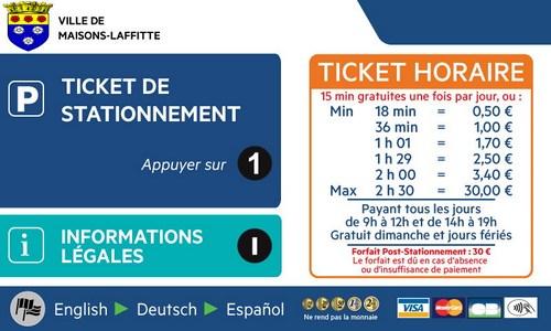 Stationnement gratuit : 15 mn