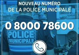 Police Municipale : nouveau n° de téléphone